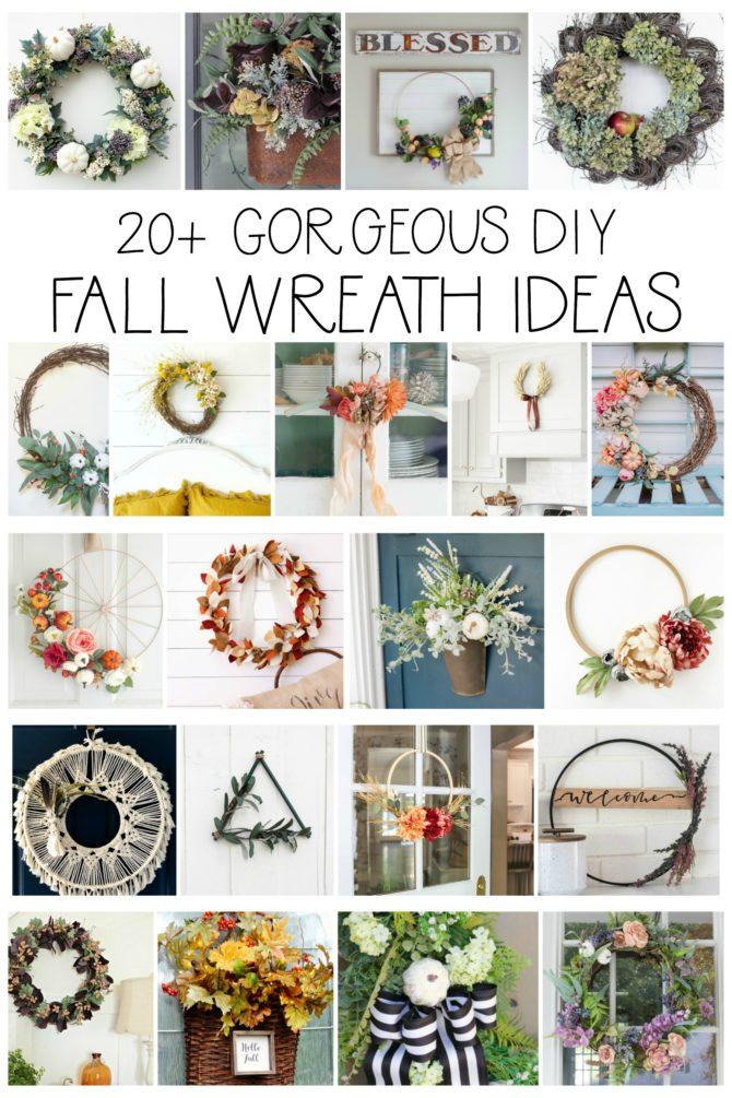 ver 20 stunning DIY fall wreath ideas as part of the Seasonal Simplicity Fall Wreath Hop