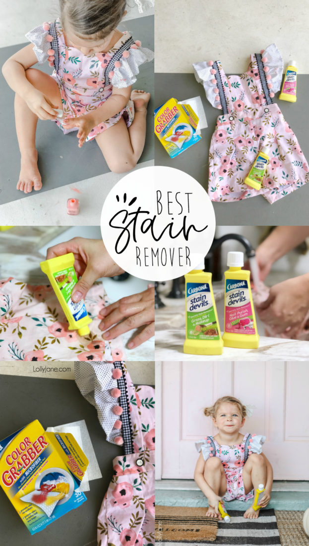 Wowza! I can hardly believe that nail polish (yes, nail polish!) came out of this outfit! Best ever stain remover revealed, check it out! #stainremover #cleaningtips #momhacks #cleaning #cleaninghack #cleaningtricks #carbonara #cleaningtips