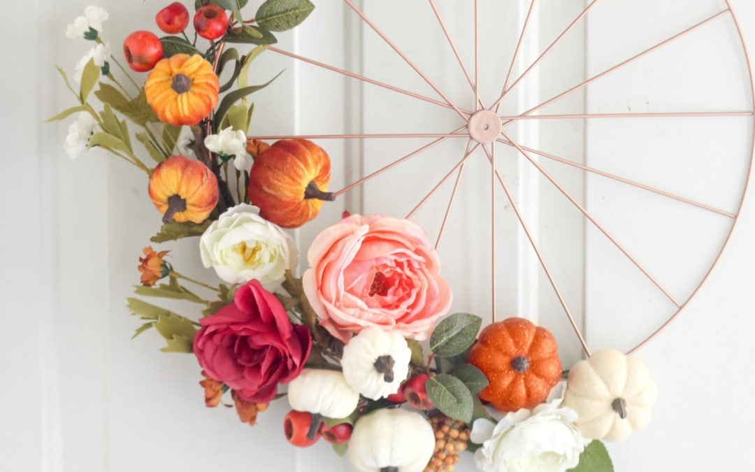 fall wheel wreath tutorial