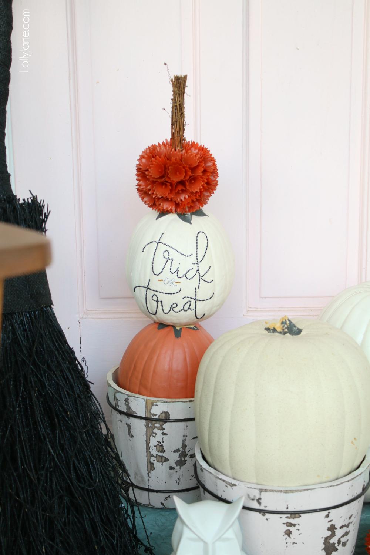Diy Pumpkin Topiary Lolly Jane