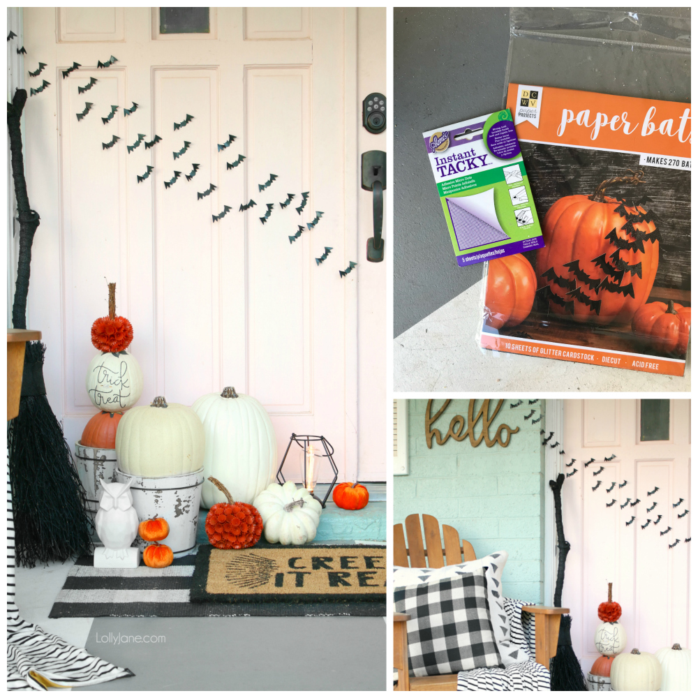NO CUT bats! Get the flying-away look WITHOUT using scissors OR cutting pieces of tape. Get the EASY DIY here!