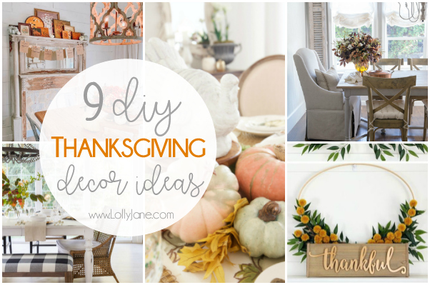 Are you hosting Thanksgiving dinner this year? You'll love our pretty Thanksgiving table decorations, Thanksgiving decor ideas AND some easy to make Thanksgiving DIY projects: so much to be thankful for! #diy #thanskgiving #thanksgivingdecor #thanksgivingdecoratin