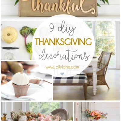 9 Thanksgiving decorations to DIY