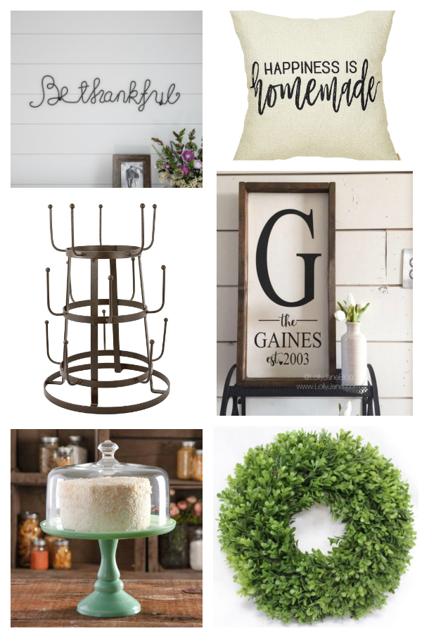 Looking for the perfect gift for the farmhouse lover? We've got the top farmhouse gift ideas for you! #farmhouse #giftguide #giftideas