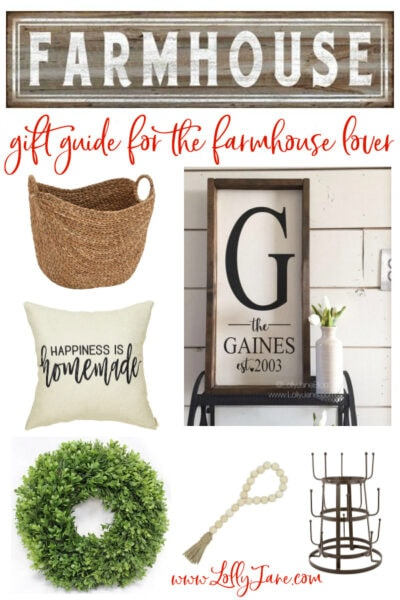 Do you have a farmhouse lover in your life? You'll love these ready to buy farmhouse style gifts, the perfect farmhouse gift idea for the Fixer Upper lovers!! #farmhousegift #farmhousegiftideas #farmhousegiftguide