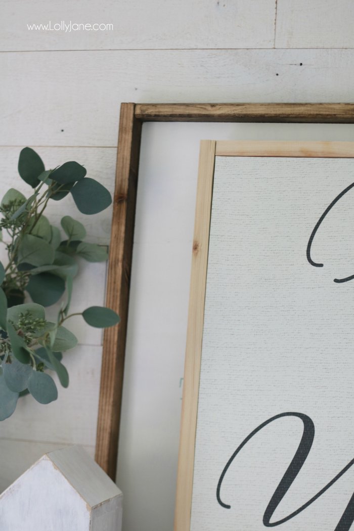 See the step by step on how to frame canvas art for a few bucks! Make your inexpensive frame look like professional art without using major power tools! #diyart #howtoframe #canvasart