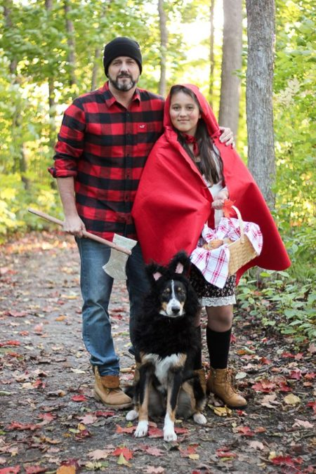 Your favorite childhood story has come to life as the cutest Little Red Riding Hood couples costume! #redridinghood #couplescostumes #halloweencostumeideas
