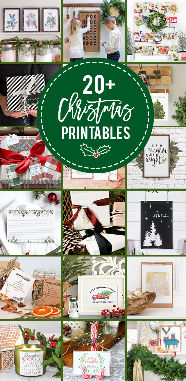 20+ FREE Beautiful Christmas Printables. From gift tags to advent calendars to recipe cards and art -- you're sure to find a few new favorites this year!