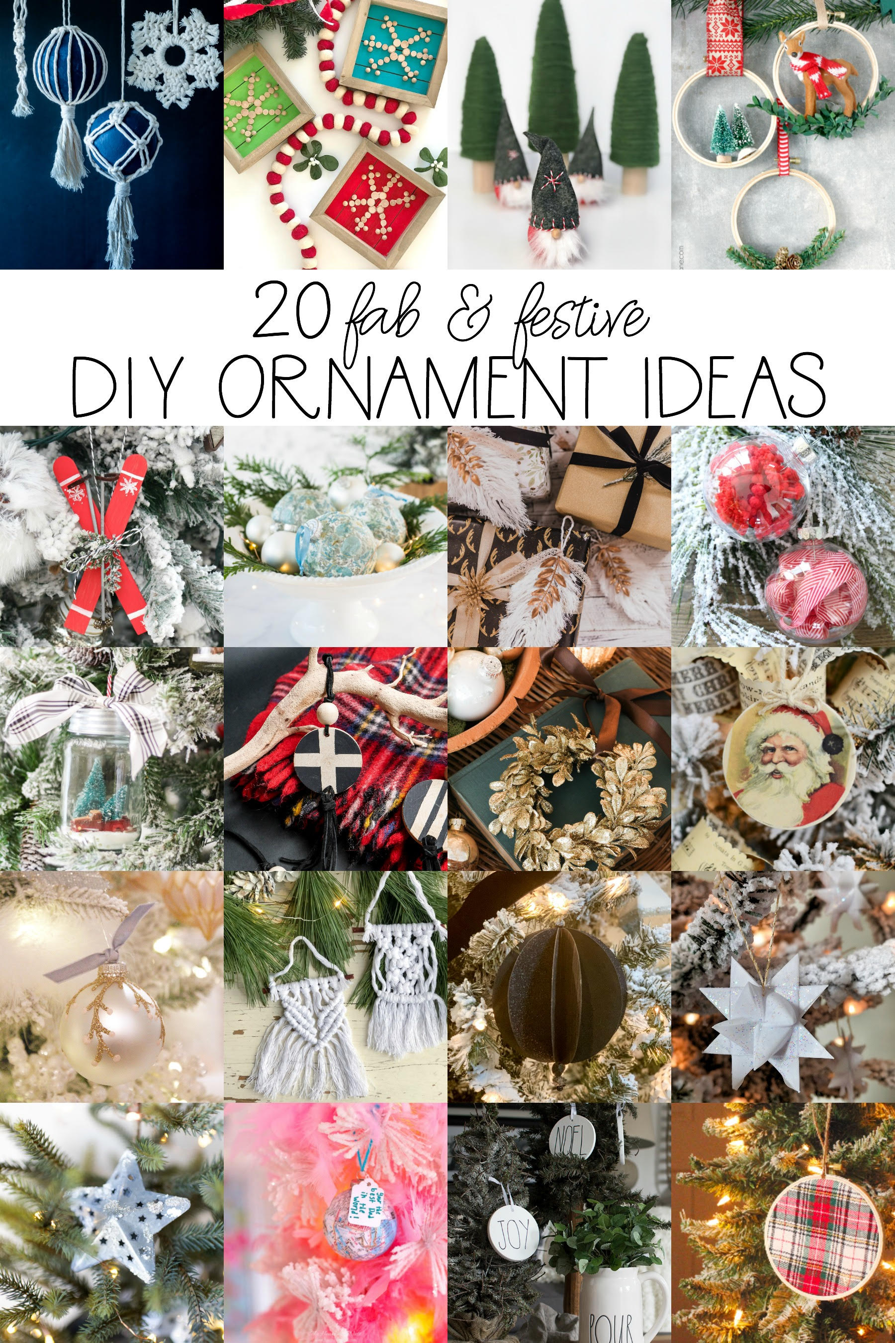 20 Fab & Festive DIY Ornament Ideas