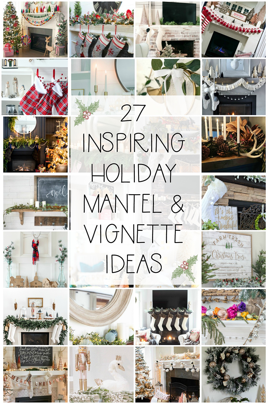 27 inspiring holiday mantel and vignette ideas Seasonal Simplicity Christmas Series #diy #christmasdecorations #winterdecor