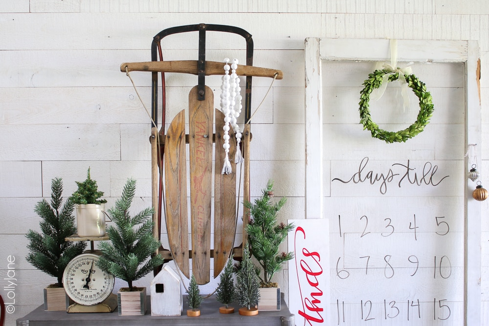 "Make this Easy DIY Christmas Countdown with an old window Pane turned dry erase board in just a few simple steps! Perfect way to keep the littles at bay from asking ""how many days until christmas"" and it doubles as a holiday decoration! #diychristmasdecorations #diychristmasdecor #christmascountdown #diychristmascountdown"