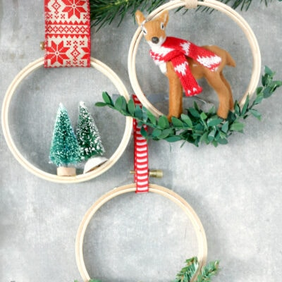 Easy Embroidery Hoop Christmas Ornaments