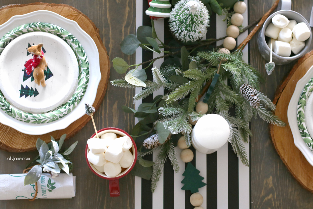 Christmas Table Scape Ideas.Easy Christmas Tablescape Ideas Lolly Jane