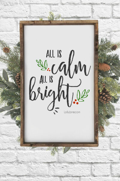 Love this FREE Printable Christmas Art... use as art, a card, invitation, banner or to simply spruce up a winter/Christmas space for FREE! #freeprintable #christmasdecoration #printables #printableart #christmas