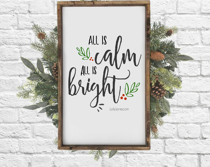 free printable silent night christmas art