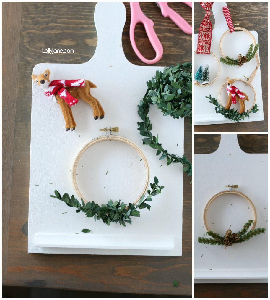 EASIEST Christmas Ornament DIY ever!! Snag the how-to on LollyJane.com #diy #diyornaments #christmasornaments #christmasdecorations