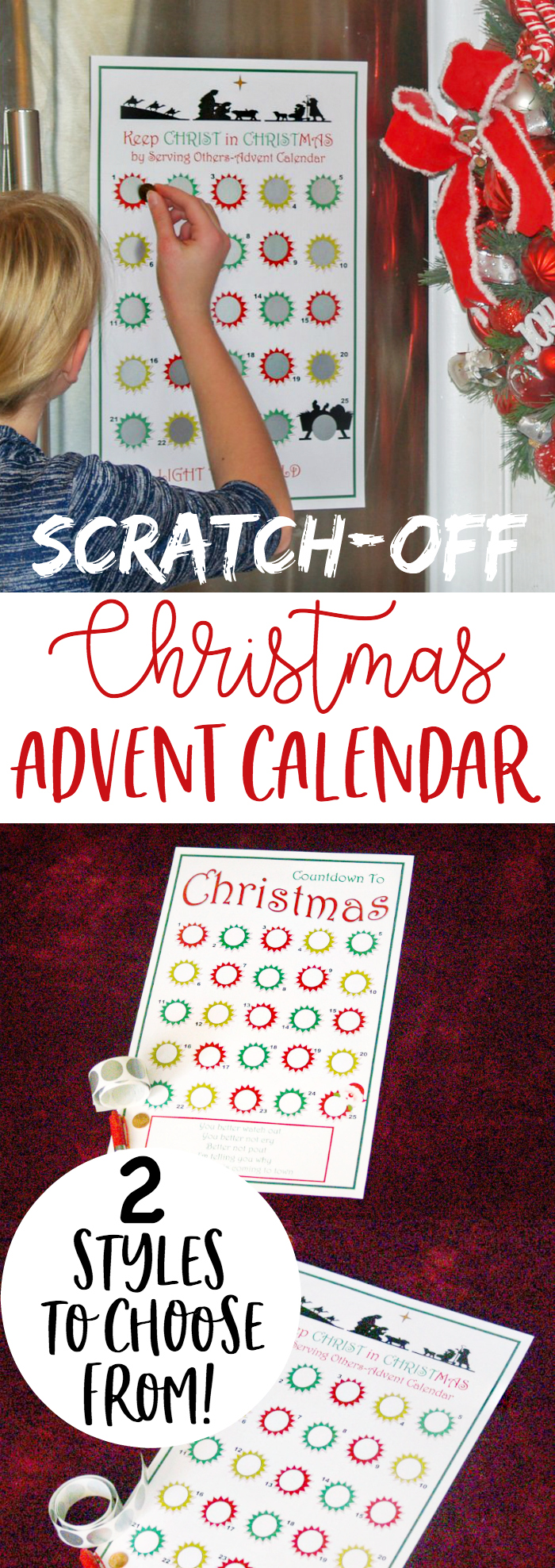 BRILLZ! Scratch-Off Christmas Advent Calendar... use code LOLLYJANE for BOGO! Perfect gift for friends and neighbors, or for yourself to stop the kids from asking when Santa is coming every day! ;) bit.ly/scratchxmascalendar #adventcalendar