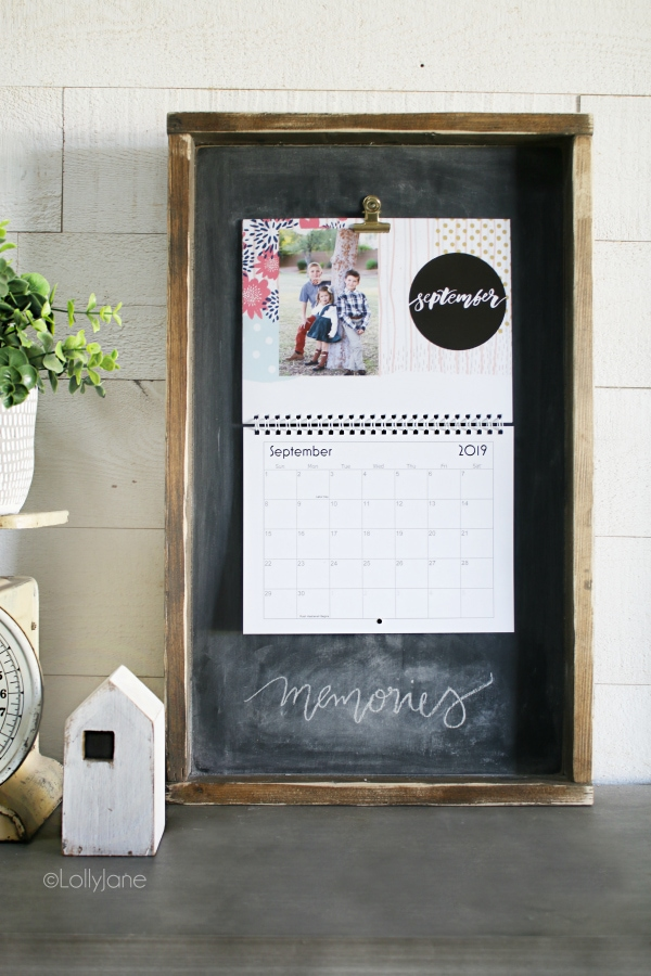 Wood Calendar Holder - Lolly Jane