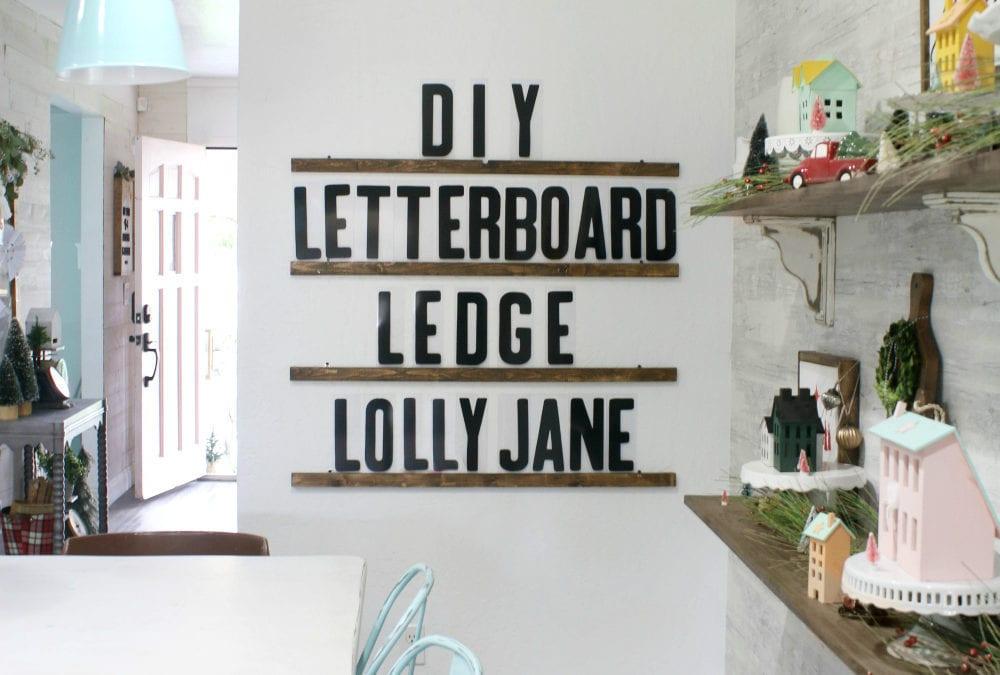 diy letter board ledge