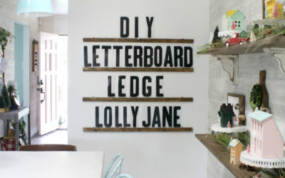 diy letter board ledge