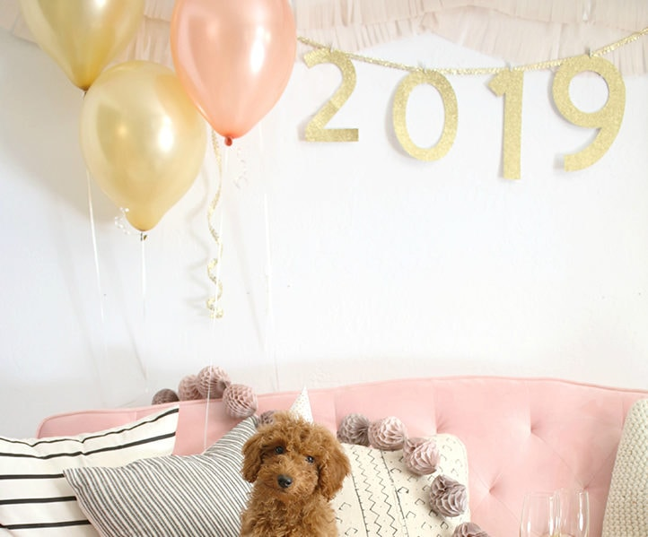 DIY New Years Eve party garland