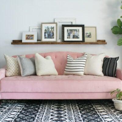 Mid Century Modern Living Room Makeover