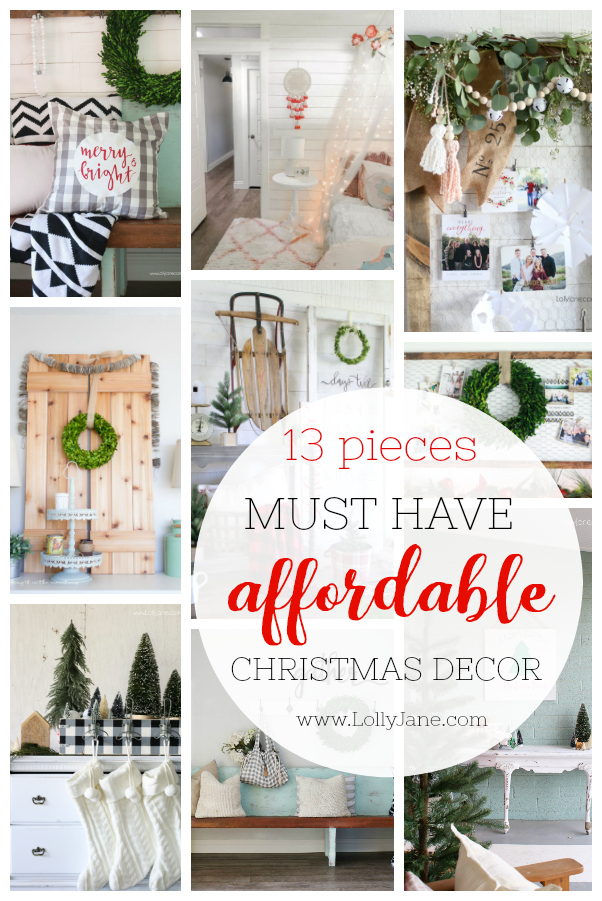 13 must have affordable Christmas decor pieces! You'll love our list of cute decor on sale: most doubles as year round decor, too! #christmasdecor #christmassale #christmasdecorations #christmas