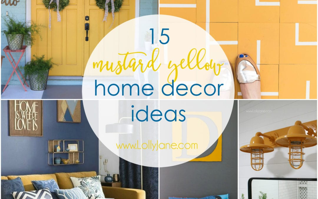 Superb 15 Mustard Yellow Home Decor Ideas
