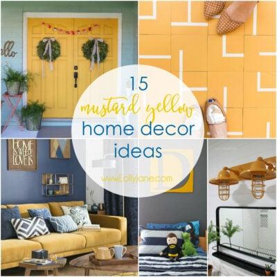 15 mustard yellow home decor ideas
