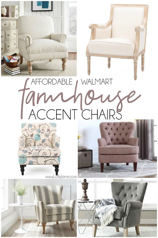 So in love with these gorgeous farmhouse accent chairs! Can you even handle that they're from Walmart! Love these farmhouse accent chairs, super affordable and great quality! #walmartfinds #accentchair #affordabledecor #farmhousechair #farmhousestyle #farmhousedecor #farmhouse