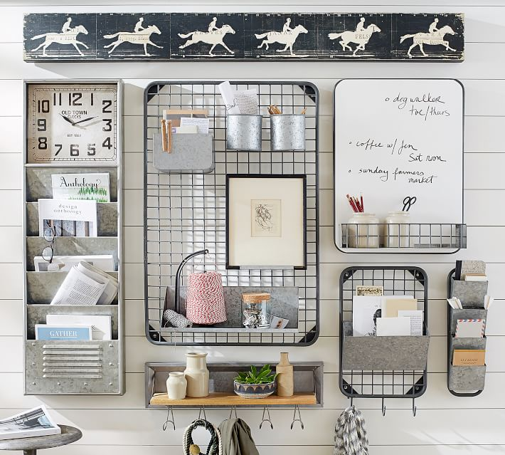 Love this vintage style command station, the easiest way to get organized! Love this family command center to organize it all! #organize #organization #commandcenter #commandstation