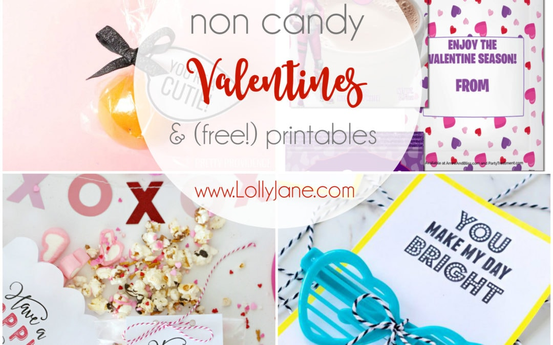 11 non candy Valentine ideas and printables