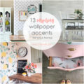 Wallpaper is a great way to add a custom accent to your home. It's affordable, easy to use, and the options are endless! Check out 12 more beautiful wallpaper inspirations for your home!