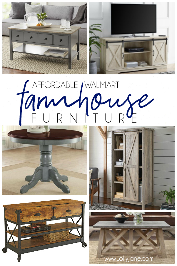 Check out these darling farmhouse finds from Walmart! They have some cute and affordable farmhouse decor pieces at a fraction of the cost as other stores! #walmartfinds #farmhouse #farmhousestyle #farmhousefurniture #homedecor