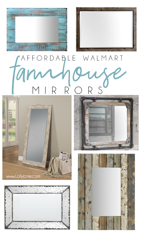 Don't forget about Walmart when looking for affordable home decor! We love these affordable farmhouse mirrors from Walmart, cute and trendy for less! #walmarthomedecor #farmhouse #farmhousedecor #farmhousemirror #affordablemirror