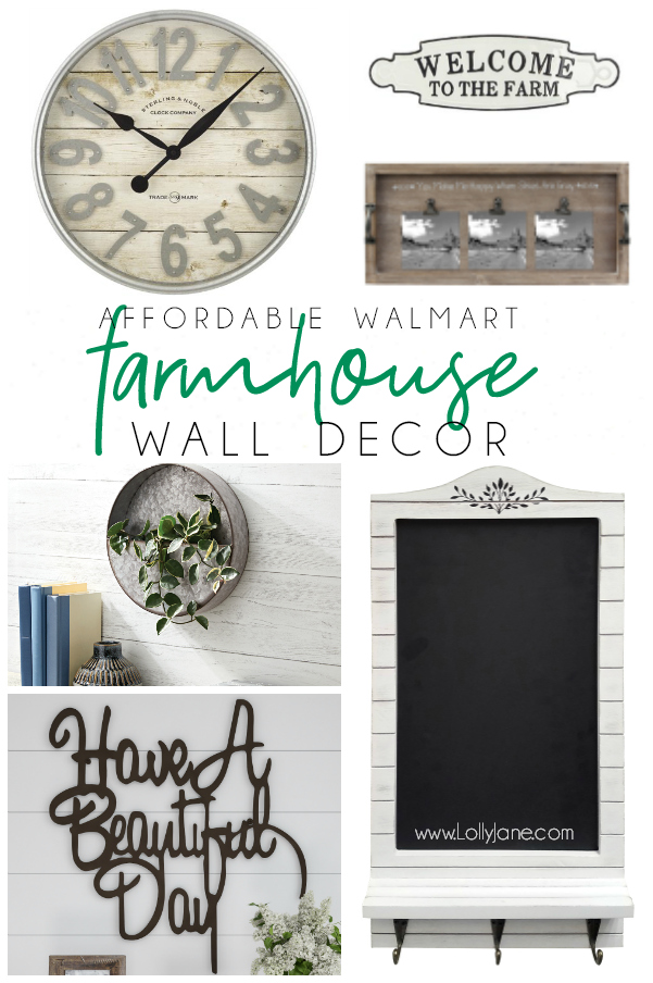 Loving all this super affordable farmhouse decor from Walmart, WOW!! Who knew Walmart carried such cute farmhouse decor pieces!? #affordabledecor #homedecor #walldecor #farmhouse #farmhousestyle #farmhousedecor #walmart