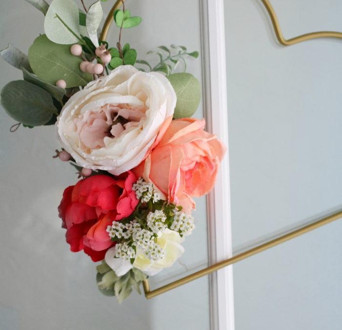 diy floral heart wreath