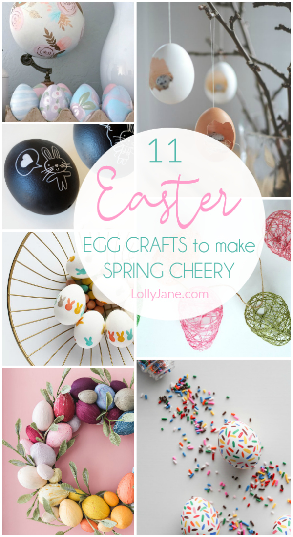 Just like bunnies, plastic Easter eggs seem to multiply every year. Check out these 11 Easter egg crafts to make right now for Colorful and easy spring decor! #easteregg #eastercraft #springdecor #springcraft