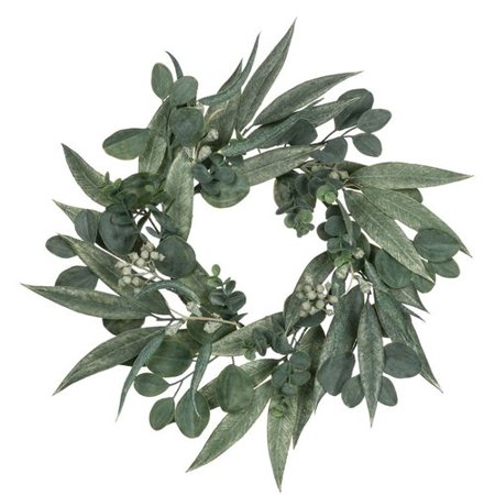This affordable eucalyptus wreath from Walmart is so pretty, the perfect farmhouse wall decor! #eucalyptus #wreath #eucalyptuswreath #farmhousewreath #wreathidea