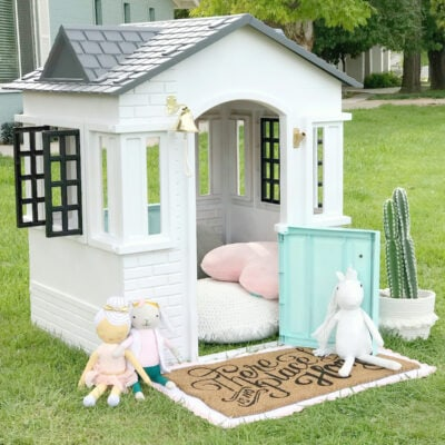 How To Paint a Plastic Playhouse Like a Pro!
