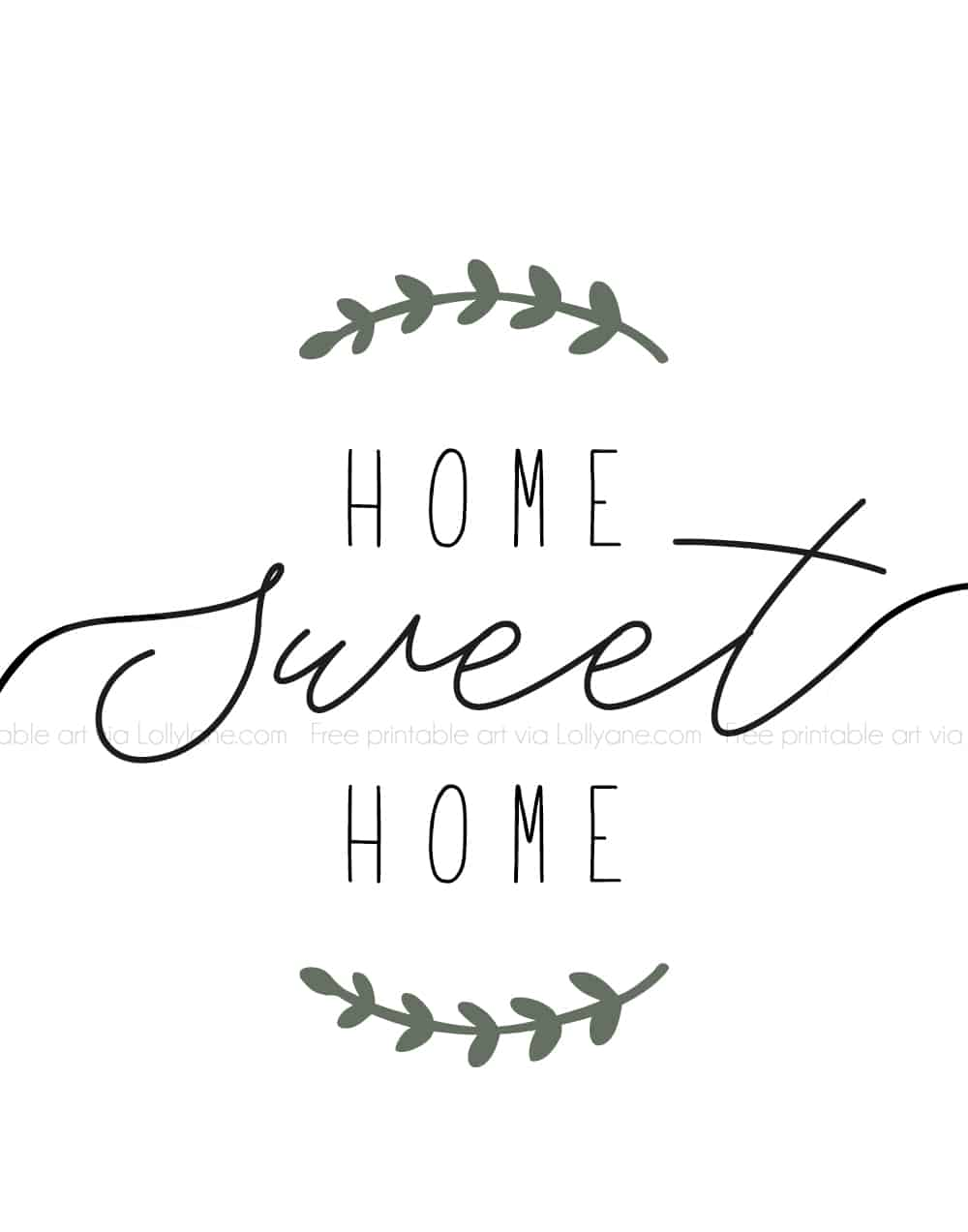 """Home Sweet Home"" printable farmhouse art. Simply print and hang to add instant farmhouse charm to your space! #farmhouse #printable #freeprintable #printableart #farmhouseart #farmhouseprintable"