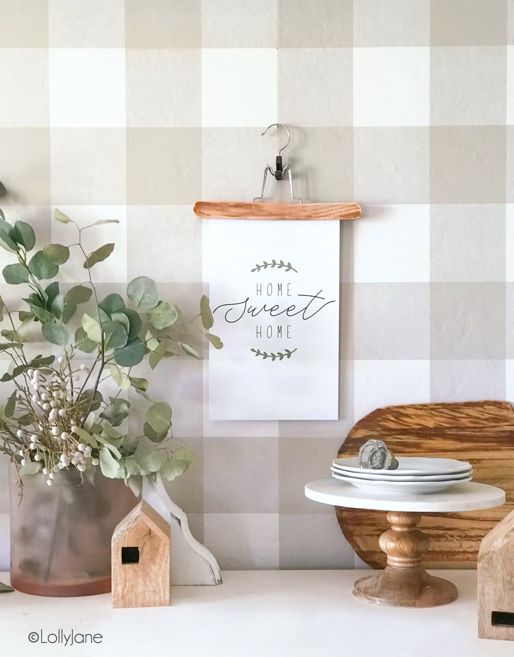 """home sweet home"" printable farmhouse art"