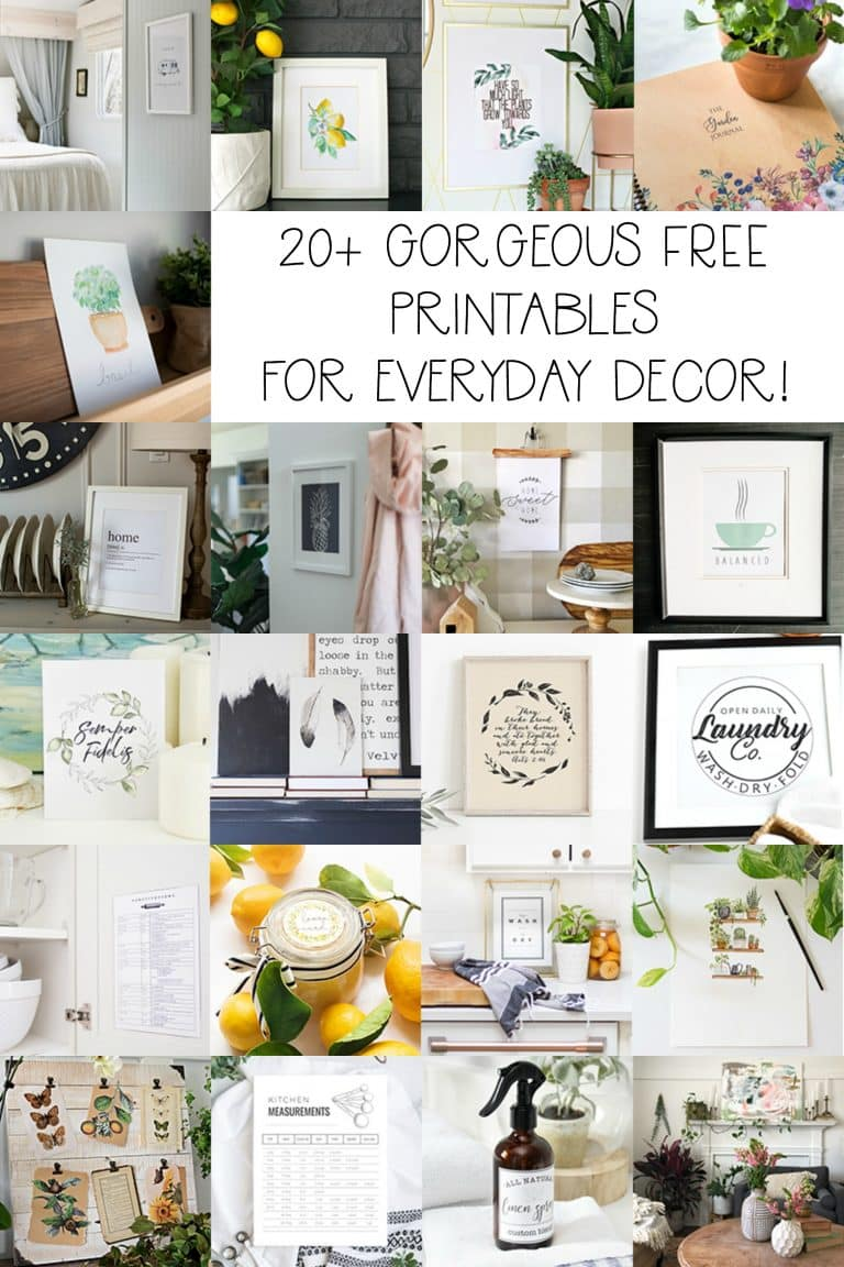 Over 20 gorgeous FREE printables for everyday decor! #freeprintable #printable