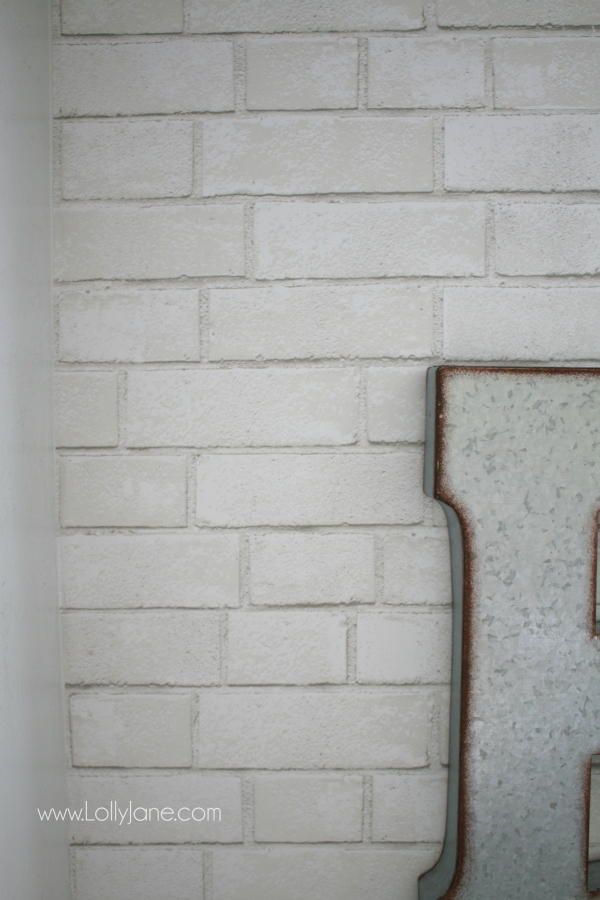 Love this brick pattern peel and stick paper, so easy to apply! Learn how to install peel and stick wallpaper, no major tools required! #peelandstickpaper #wallpaper #brickpattern #brickwallpaper #peelandstickwallpaper