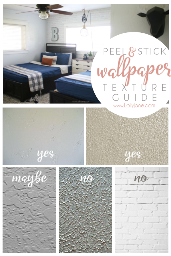 Peel and stick wallpaper texture guide: find out if your textured walls will be able