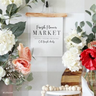 DIY Paper Scroll + Flower Market Printable Art