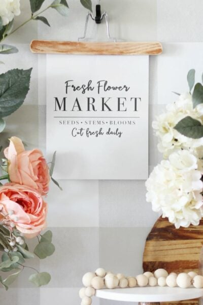 "Free Printable Art ""Fresh Flower Market"" 