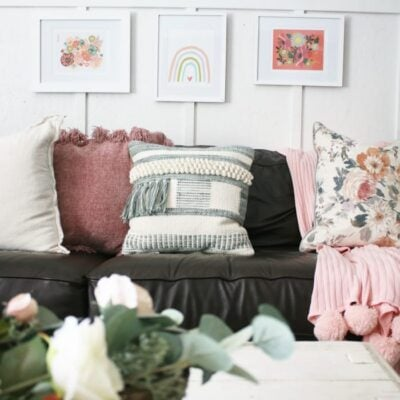Colorful Floral Gallery Wall