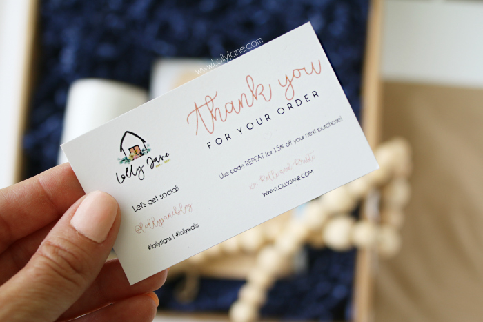 Create a discount card for your small shop and learn more ideas to create repeat business with your small business. Plus check out creative packaging ideas for your small shop! #shopsmall #smallbusiness #etsytips #tipsforsmallshops