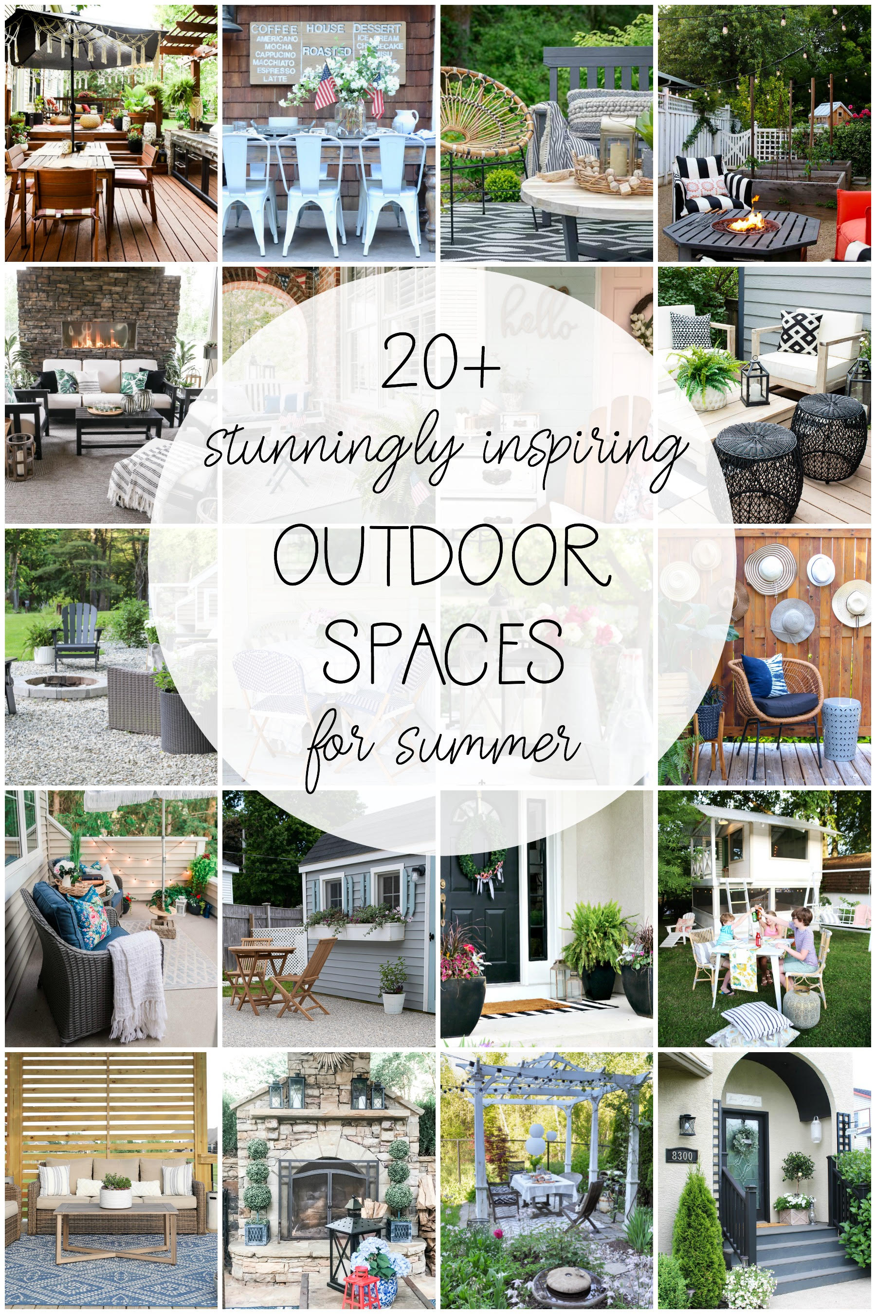 20 Stunning & Inspiring Outdoor Spaces